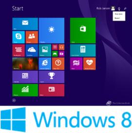 Gambar: Tampilan dan Logo Windows 8