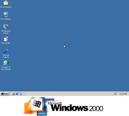 Gambar: Tampilan dan Logo Windows 2000